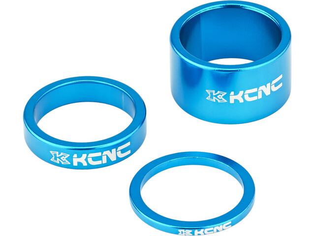 "KCNC Headset Spacer 1 1/8"" 3/8/20mm blau"